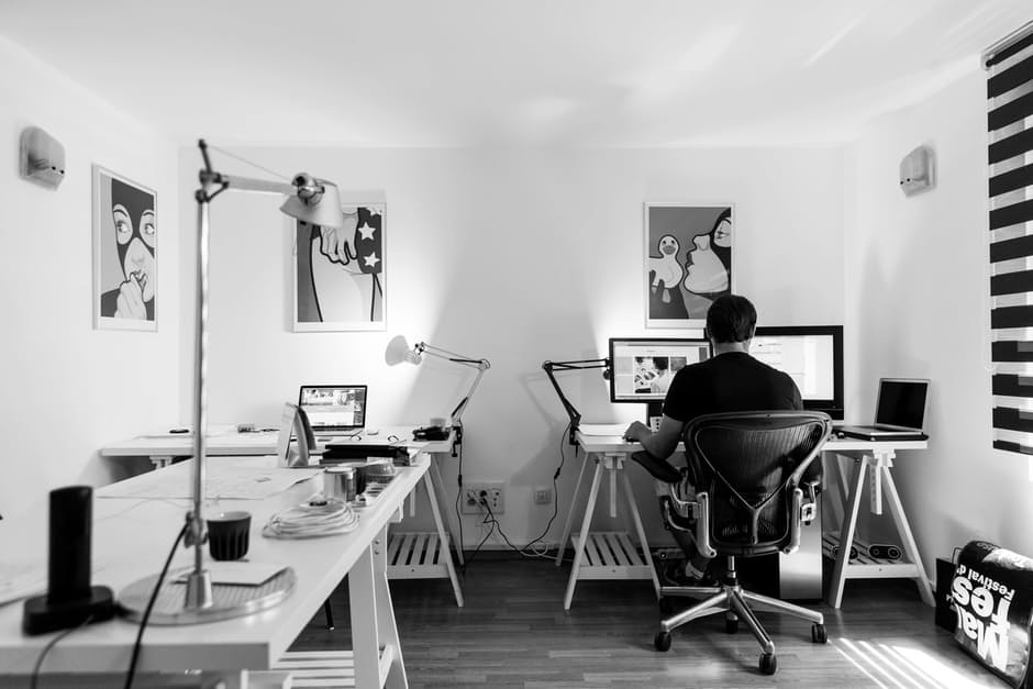 la oficina del artista