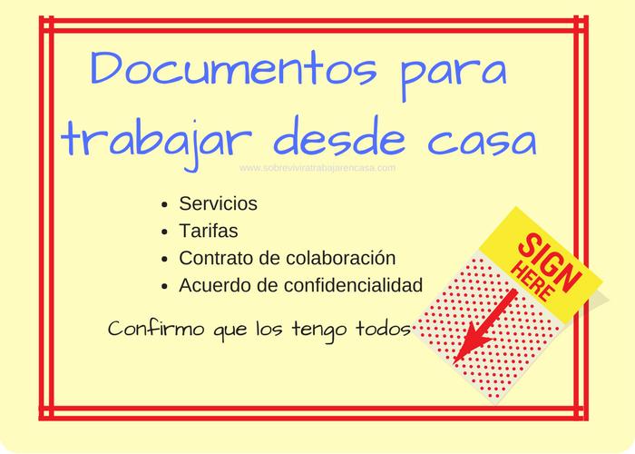 Documentos para trabajar desde casa