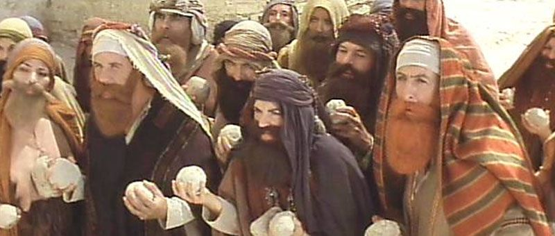 Pic 4 - life of Brian stoning