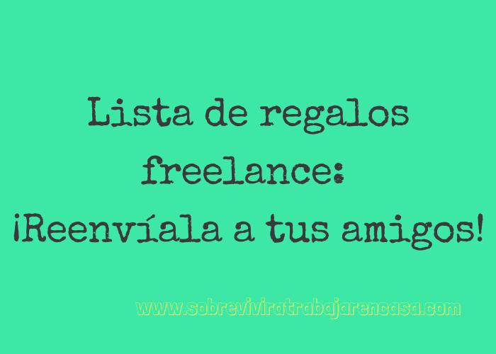 lista de regalos freelance
