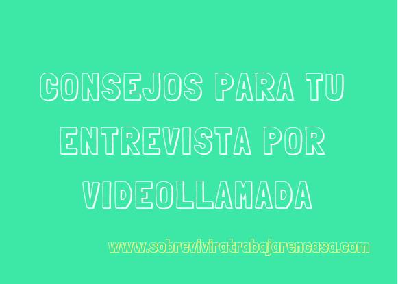 entrevista por videollamada